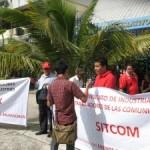 Concentración de SITCOM frente a Corte Suprema de Justicia