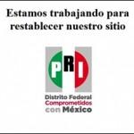 Imagen del sitio del PRI hackeado